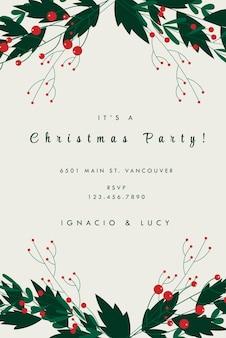Karta zaproszenie na przyjęcie bożonarodzeniowe radosny sezon