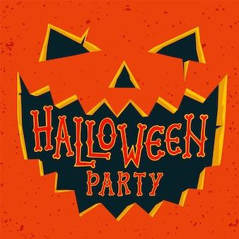 Karta zaproszenie na przyjęcie halloween.