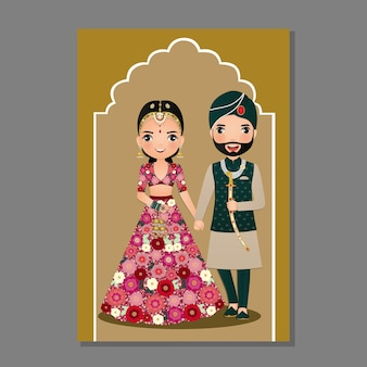 Karta zaproszenie na ślub indyjski