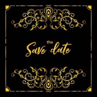 Karta zaproszenie na ślub rozkwit luksusu