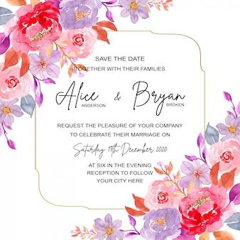 Karta zaproszenie na ślub z czarno-białym tłem