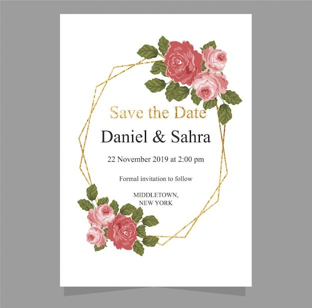 Karta zaproszenie na ślub z save the date