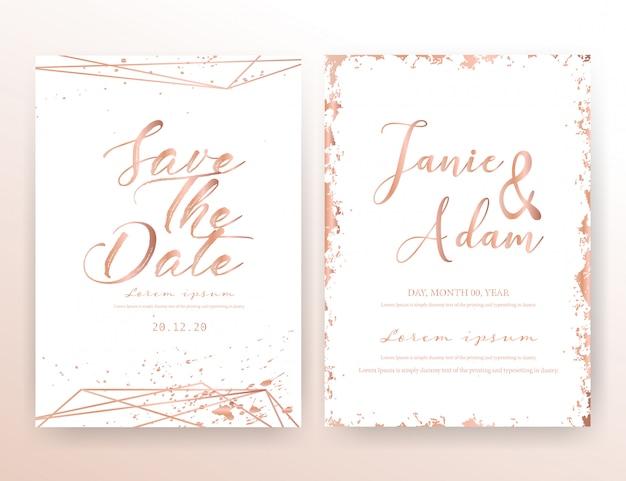 Karta zaproszenie na ślub.