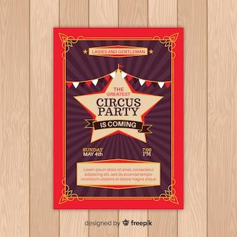 Karta zaproszenie rocznika cyrku