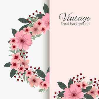Kartkę z życzeniami z kwiatami, akwarela.