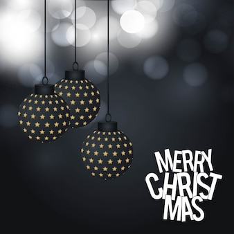 Kartka bożonarodzeniowa projekt z eleganckim projektem i ciemnym tłem