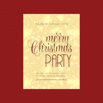 Kartka bożonarodzeniowa projekt z eleganckim projektem i czerwonym tło wektorem
