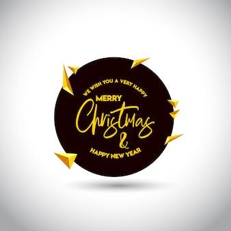 Kartka bożonarodzeniowa projekt z eleganckim projektem i lekkim tło wektorem