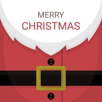 Kartka bożonarodzeniowa santa claus kostium