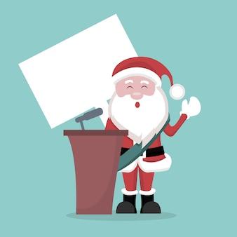 Kartka bożonarodzeniowa santa claus prezydent