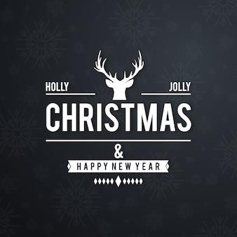 Kartka świąteczna pozdrowienia z ciemnym tłem