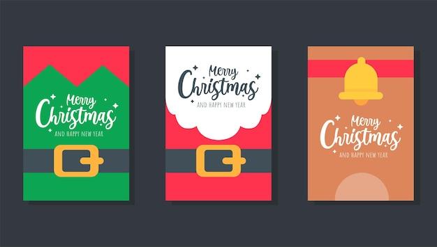 Kartka świąteczna. santa ustaw szablon karty z pozdrowieniami świątecznymi.