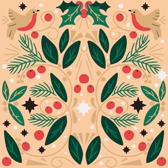 Kartka świąteczna sztuki ludowej