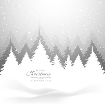 Kartka świąteczna wesołych świąt choinki