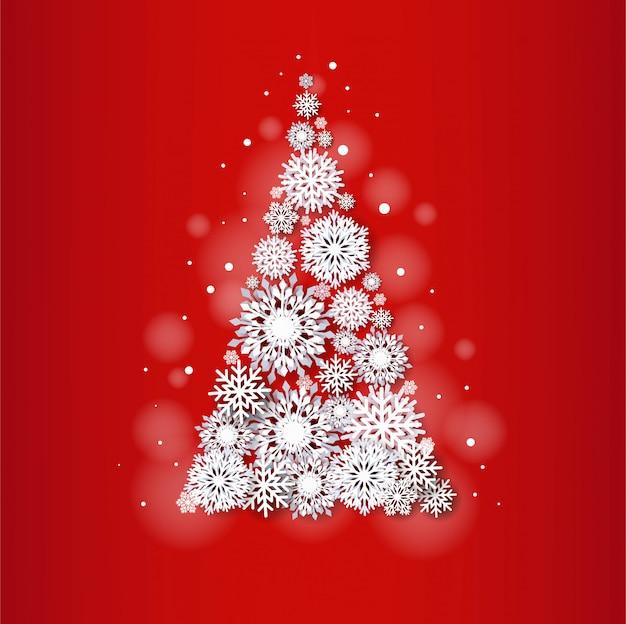 Kartka świąteczna z choinki płatka śniegu