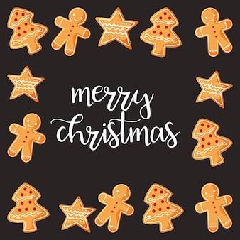 Kartka świąteczna z ciasteczka kreskówka