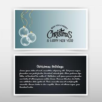 Kartka świąteczna z eleganckim wzorem