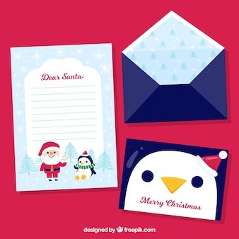 Kartka świąteczna z koperty