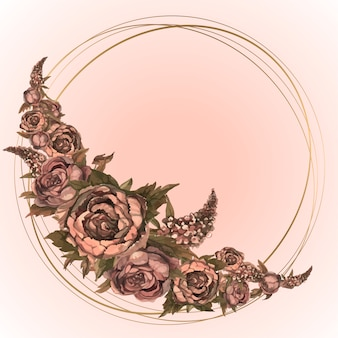 Kartka świąteczna z kwiatami akwarela