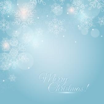 Kartka świąteczna z płatki śniegu. .