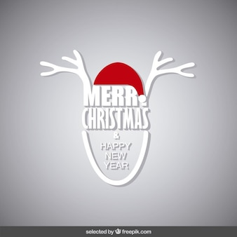 Kartka świąteczna z rogami renifera