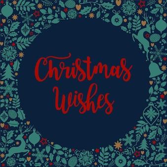 Kartka świąteczna życzenia.
