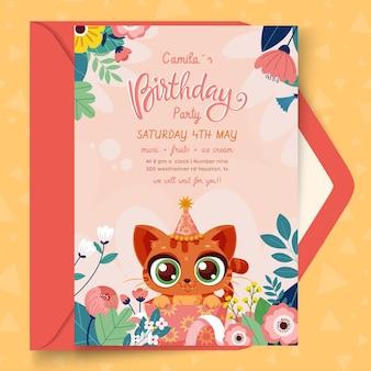 Kartka Urodzinowa Dla Dzieci Darmowych Wektorów
