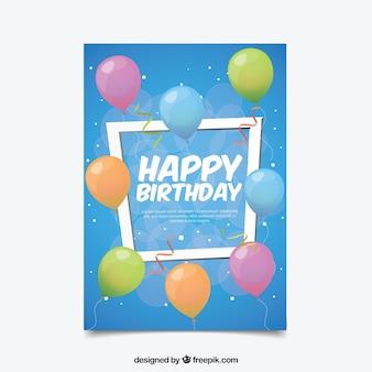 Kartka urodzinowa w płaskiej konstrukcji
