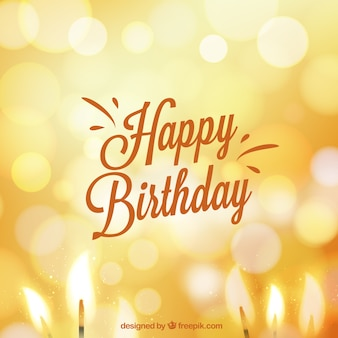 Kartka urodzinowa w stylu bokeh