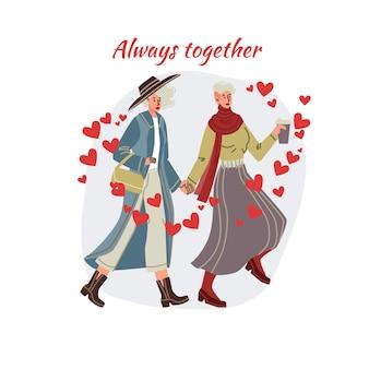 Kartka z zakochaną parą na randkę w walentynki