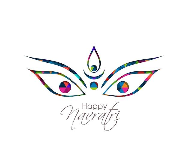 Kartka z życzeniami festiwalu navratri z piękną kaligrafią