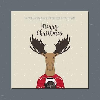 Kartka z życzeniami: merry christmas.