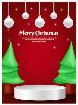 Kartka z życzeniami na boże narodzenie z wyświetlaczem produktu