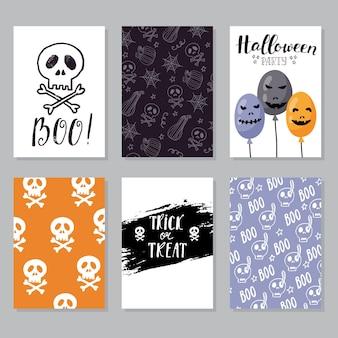 Kartka z życzeniami na halloween od odręcznego napisu klasyczna fraza na halloween