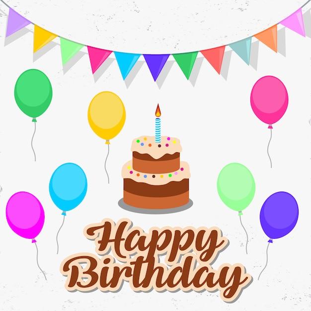 Kartka z życzeniami urodzinowymi