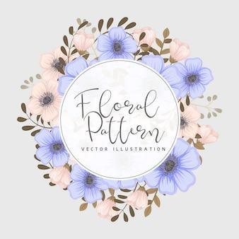 Kartka z życzeniami z kwiatami, akwarela