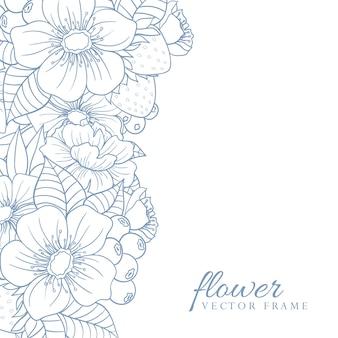Kartka z życzeniami z kwiatami