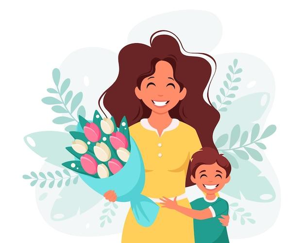 Kartkę z życzeniami dnia matki