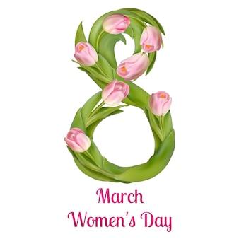 Kartkę z życzeniami dzień kobiet.