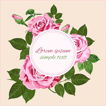 Kartkę z życzeniami lub zaproszenie z róż