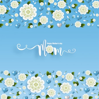 Kartkę z życzeniami na dzień matki ze złotym papierem wyciąć styl rzemiosła artystycznego na kolor tła dla karty pozdrowienia, zaproszenia.
