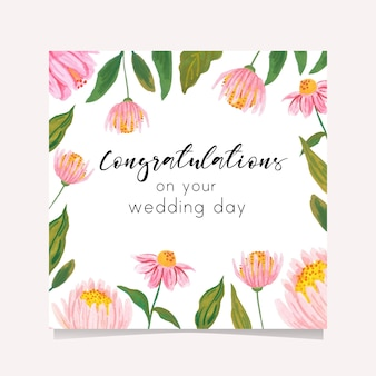 Kartkę z życzeniami na dzień ślubu