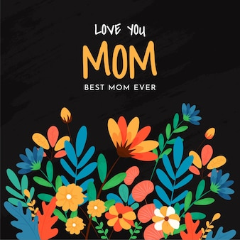 Kartkę z życzeniami na dzień szczęśliwej matki