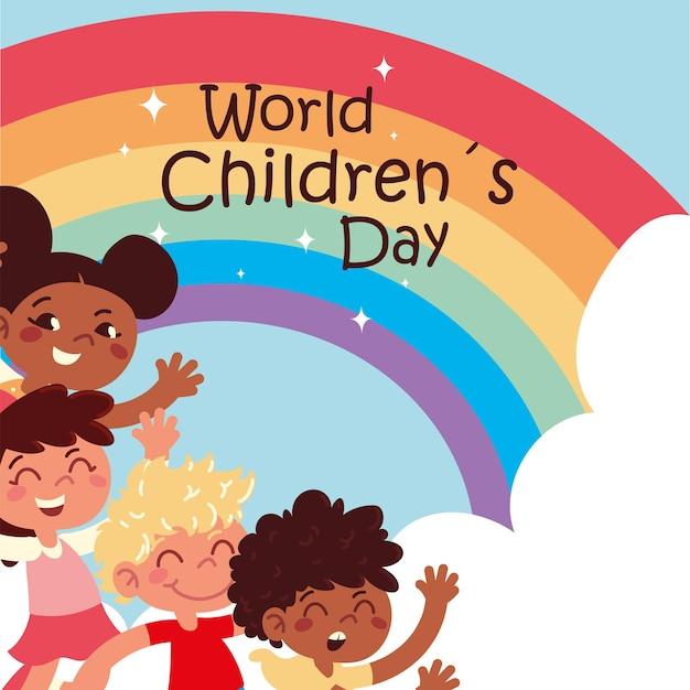 Kartkę z życzeniami na światowy dzień dziecka
