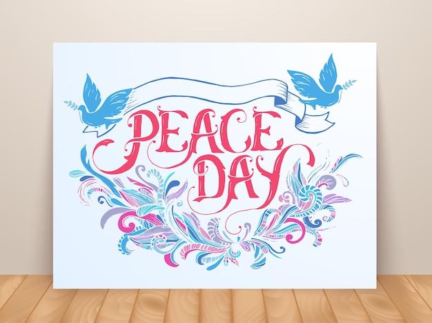 Kartkę z życzeniami na wakacje dzień pokoju