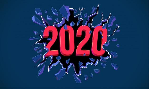 Kartkę z życzeniami nowego roku 2020