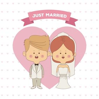 Kartkę z życzeniami nowożeńców panny młodej