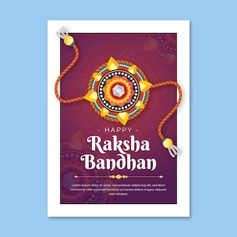 Kartkę z życzeniami płaskie raksha bandhan