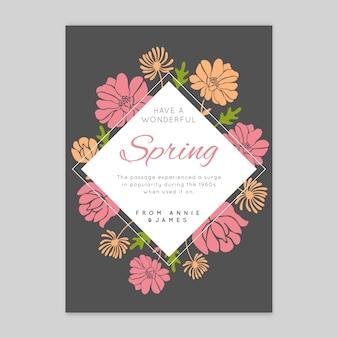 Kartkę z życzeniami płaskiej wiosny