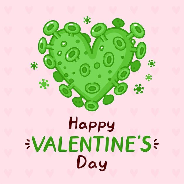 Kartkę z życzeniami serca wirusa koronowego